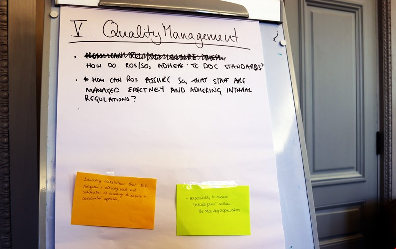 Poster on Quality Management.