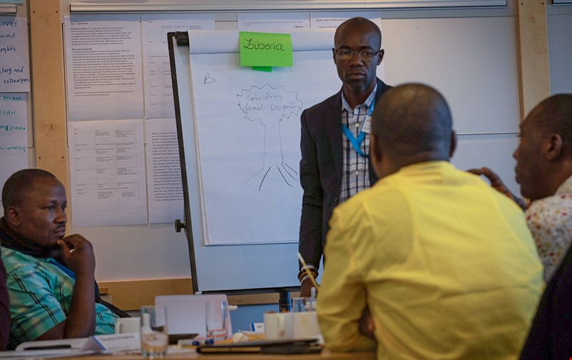 Workshop with FBA's Liberian partners.