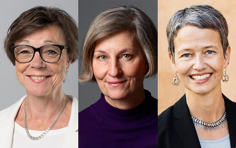 Portrait of the interviewees: Annika Söder, Gertrud Åström, Gabriela Elroy.